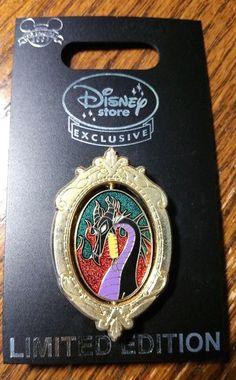 UK Disney Store Europe Villain Sleeping Beauty Maleficent Dragon Spinner LE Pin