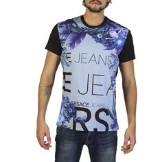 Versace Jeans White Cotton T-shirts RRP Gender:Man - Type:T-shirt - Sleeves:short - Neckline:round - Material:cotton - Washing:hand wash - Model height, - Model wears a size:M - Details:appliques, visible logo. Beach T Shirts, Tee Shirts, Versace Jeans T Shirt, White Cotton T Shirts, Versace Men, Mannequin, Shirt Sleeves, Outfit, Pants For Women