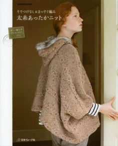 Thick Yarn Warm Knit - Japanese Knitting Pattern Book for Women - I need to find this book - it looks interesting. Knitting Books, Easy Knitting, Knitting Yarn, Knitting Projects, Knit Dishcloth, Thick Yarn, Knitting Magazine, Knitted Poncho, Pattern Books