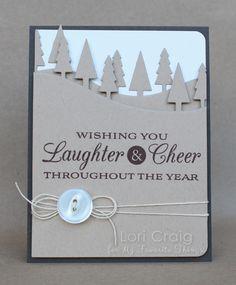 Holiday Grand Greetings; Tree Lines Die-namics - Lori Craig