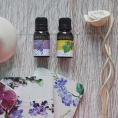 For a relaxing & calming fragrance, blend 30 drops of Lavender Essential Oil and 10 drops of Patchouli Essential Oil to cup of Grapeseed Carrier Oil.
