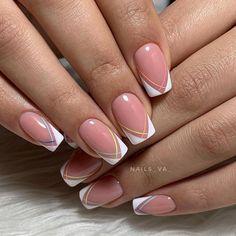 pink french nails Tips Pretty Nail Colors, Pretty Nail Designs, Best Nail Art Designs, Colorful Nail Designs, Pretty Nails, Pink Nails, Gel Nails, Nail Polish, French Nails
