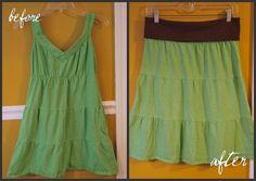 DIY Clothes DIY Refashion  DIY  Dress to Skirt Refashion