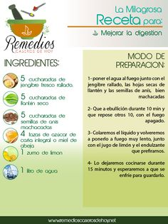 Mejora tu digestión con esta receta natural.