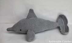 Love this!! Am so going to make one of these ...one day :) A[mi]dorable Crochet: free Dolphin Pattern