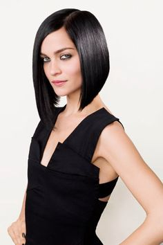 Perfect asymmetrical bob.