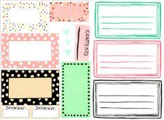 Several styles of free printable Designer Labels