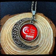 I Love You To The Moon And Back Silver Tone I Love You To The Moon And Back Necklace in Silvertone . C16 . Jewelry Necklaces