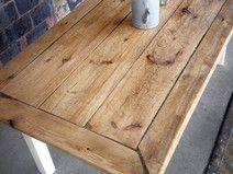 Tisch im Landhaus-Stil aus Bauholz Jasmijn