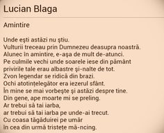 Lucian Blaga Romania People, Favorite Quotes, Literature, Motivational, Wisdom, Feelings, Sayings, Learning, Words