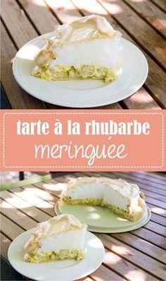 Recette de tarte à la rhubarbe meringuée sur www.lagodiche.fr