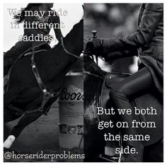 End the feud!! Start tagging #differentsaddlessameride to stop the English vs.western feud!
