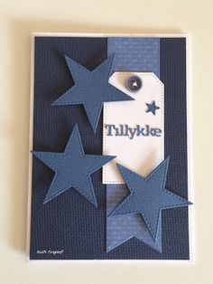 Ruth's lille blog: 3 kort Masculine Birthday Cards, Masculine Cards, Farewell Greeting Cards, Star Cards, Cardmaking And Papercraft, Card Sketches, Printable Cards, Paper Cards, Scrapbook Cards