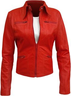Once Upon a Time Emma Swan Red Leather Jacket ►Best Price Offer◄ at Amazon Women's Coats Shop