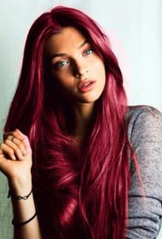 Red, red violet, and copper hair colors on Behance