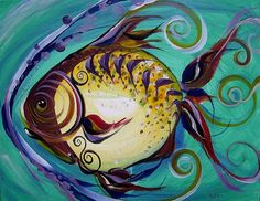 Fish art, paintings and original fine art by Jason Scarpace, Artist - College Station, Texas USA