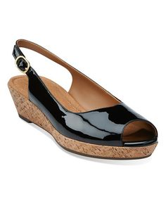 a881f1852aad66 Clarks Black Orlena Currant Patent Leather Slingback