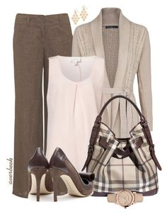 Back to School for Teacher by averbeek on Polyvore featuring MANGO, Witchery, Monsoon, Rupert Sanderson and Burberry