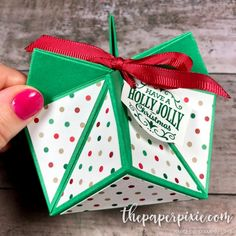 Today's project is a Faceted Gift Box that was originally an origami box, but … - Diy Geschenke Origami Gift Box, Diy Gift Box, Origami Easy, Diy Box, Diy Gifts, Origami Boxes, Dollar Origami, Origami Bookmark, Origami Folding
