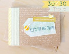 Great idea for collecting memora on a roadtrip: Day 12 Envelope Book