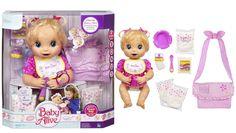 NEW Classic Baby Alive Girl Doll BONUS Diaper Bag Set 2006 Hasbro Interactive - 1