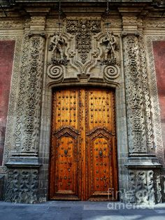 Mexican Door 66 Mexico Art Architecture City Culture Mesoamerica Antique Building Colonial Church