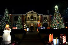 Holiday Light Hunting in Highland Park. That Nutcracker is One-Story Tall. WOW!