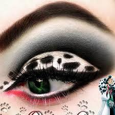 Cruella makeup. Dalmation eyes make up. 101st day of school- winner