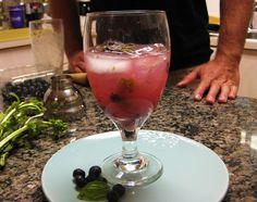 Blueberry and Basil Vodka Lemonade