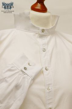 Ascia monuste - White Victorian Shirt - Fourth Doctor's Shirt from Doctor Who