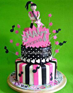 Rock Star Girl Themed cake