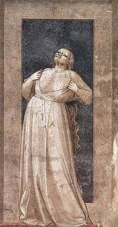 Ira giotto - Category:Cappella degli Scrovegni (Padua) - Allegories of the Vices - Wikimedia Commons Noli Me Tangere, Renaissance Kunst, Renaissance Artists, Fresco, Late Middle Ages, Web Gallery, Free Art Prints, Mural Painting, Paintings