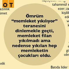 Nedense yıkılan hep  memleketin çocukları oldu... #Ankara #OTdergi