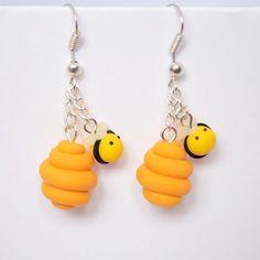 cute Little Beehives earrings