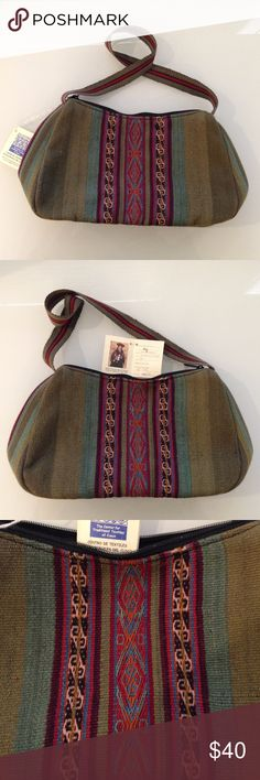 NWT Peruvian Purse - Handwoven Multicolored Warmi Hand woven from 100% natural fiber (100% natural dyed colors, 90% sheep's wool, 10% alpaca's wool) Care instructions: hand wash in cold water or machine wash (delicate)  CTTC (The Center for Traditional Textiles of Cusco) aids in the survival of Peruvian Inca textiles and weaving traditions, benefiting Quechua-speaking women and their families. This took 5 days of work to create by artisan Florentina Huaman.  Approximate dimensions: Width…