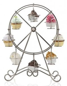 For our circus party for the twins!!!! EEEk I love this!!!Ferris Wheel Cupcake Server - $66.00