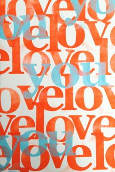 Love You in Orang and Blue by Velásquez©2012