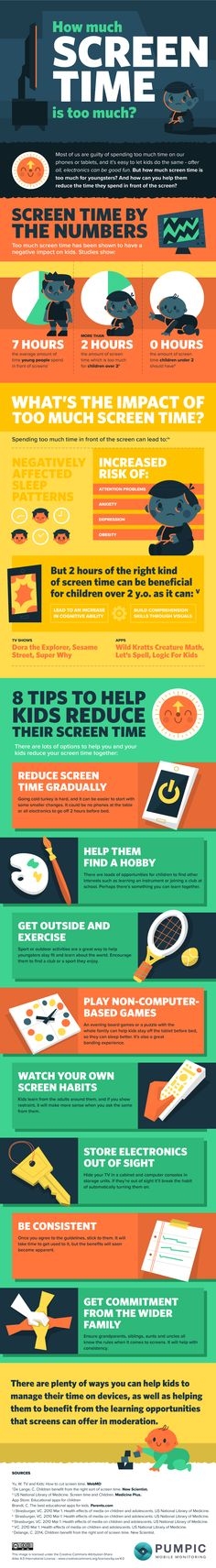 How much screen time for kids is too much? Find out the answer and check this infographic for 8 screen time recommendations to help parents deal with the issue. Kids Nutrition, Nutrition Tips, Raising Arizona, Screen Time For Kids, Headache Relief, Kids Sleep, Health Education, Health And Wellbeing, Children