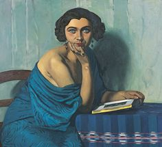 Félix Vallatton, Dame in blauw