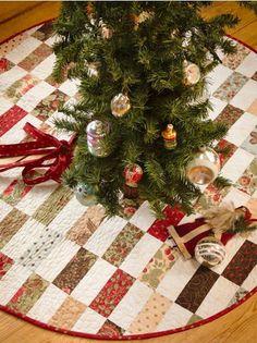 Martingale - Back to Charm School (Print version + eBook bundle) Xmas Tree Skirts, Christmas Tree Skirts Patterns, Christmas Skirt, Christmas Sewing, Christmas Holidays, Christmas Decorations, Christmas Quilting, Christmas Stockings, Christmas Displays