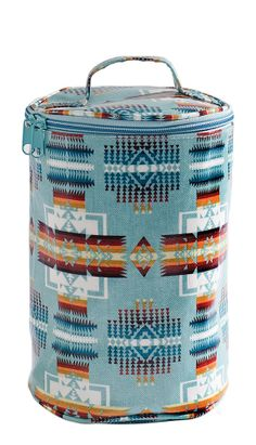 Tribal | coated canvas cylinder bag // for toiletries, the beach etc.