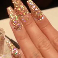 Stylish Lovely Glitter Nail Art Designs Ideas That You Will Love To Try Dope Nails, Glam Nails, My Nails, Ongles Bling Bling, Bling Nails, Bling Nail Art, Gorgeous Nails, Pretty Nails, Nail Art Designs