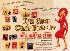 AUSTRALIA OUT Photo of FILM POSTERS and Jayne MANSFIELD Poster for 'The Girl Can't help it'