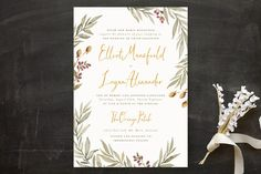 """Summer Love"" - Rustic, Floral & Botanical Wedding Invitations in Sunflower by Wildfield Paper Co.."