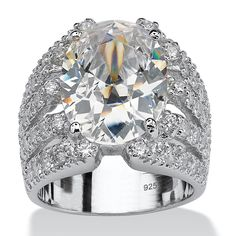 TCW Oval-Cut Cubic Zirconia Sterling Silver Sparkler Engagement/Anniversary Ring on PalmBeach Jewelry Cubic Zirconia Engagement Rings, Promise Rings For Her, Oval Engagement, Silver Diamonds, Anniversary Rings, Palm Beach, Fashion Rings, Fashion Jewelry, Sterling Silver Jewelry