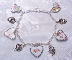 "DIY:: Upcycled Broken China Bracelet,,what a neat way to save the memories of ""special china"" when it meets an unfortunate end."