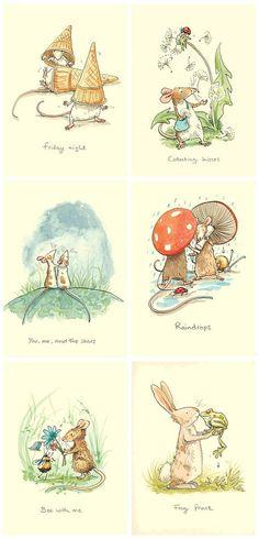 Anita Jeram's Adorable stationery and Children's Illustrations Children's Book Illustration, Book Illustrations, Illustration Example, Childrens Books, Illustrators, Character Design, Cute Animals, Artsy, Barn