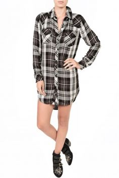 Rails Kylie Button Down Plaid Dress