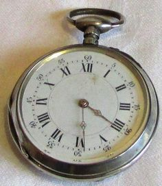 French Pocket Watch  Marked  Cylindre Dix Rubis  No 1784 Maker VG