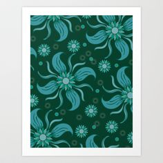 Floral Obscura Art Print by Marcia Copeland - $14.00